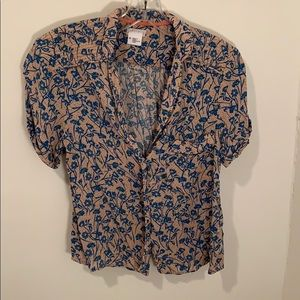 Urban Outfitters Floral Button Up Top